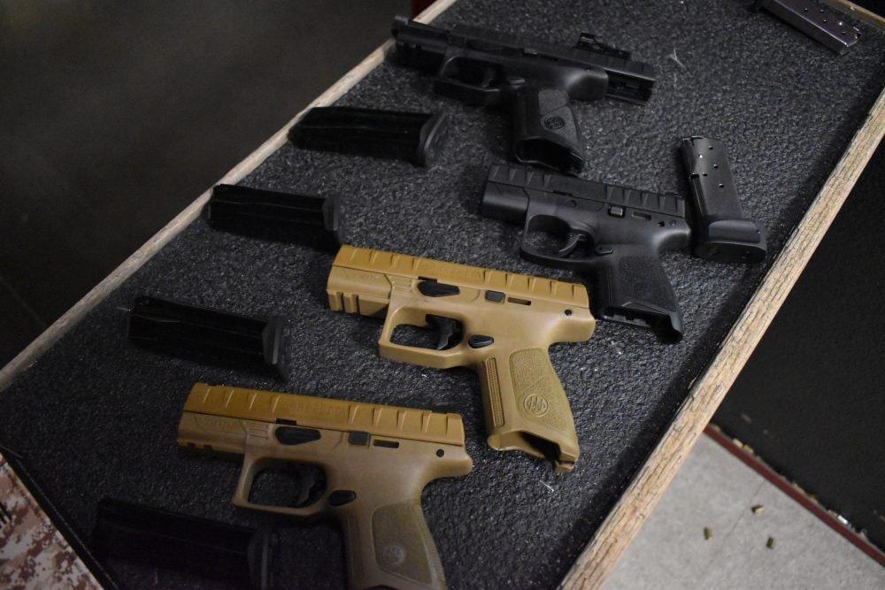 Beretta APX series at shooting range