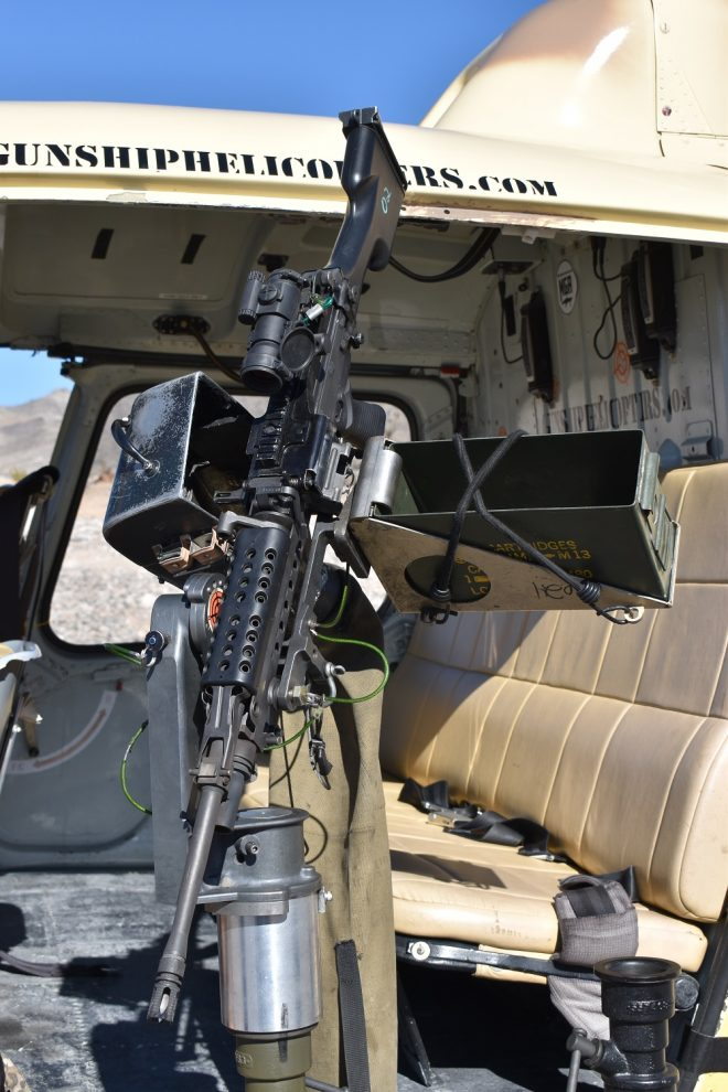 FN M249 SAW with an Aimpoint optic mounted on an A-Star A350