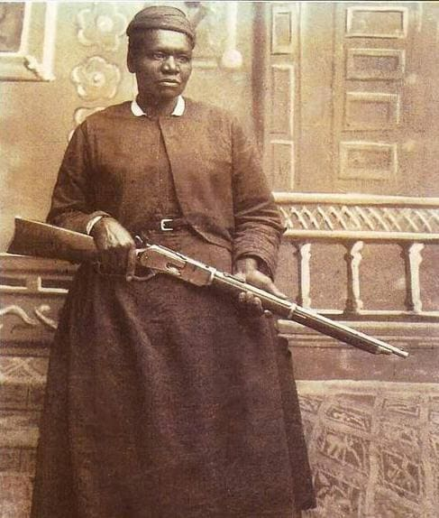 Mary Field with rifle