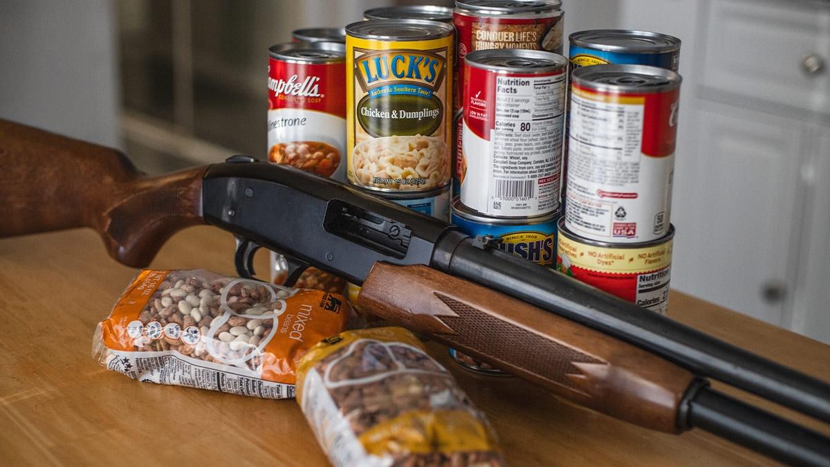 Shotgun and cans