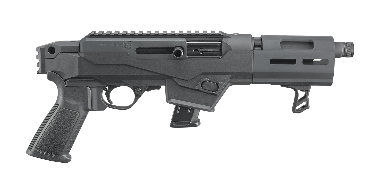 A lightbox image of a Ruger PC Charger pistol