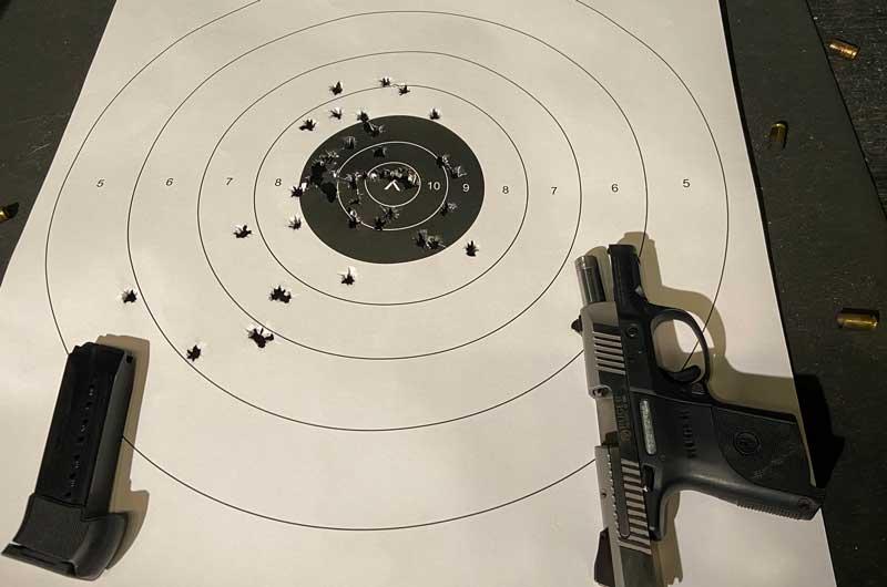 Ruger pistol at the range