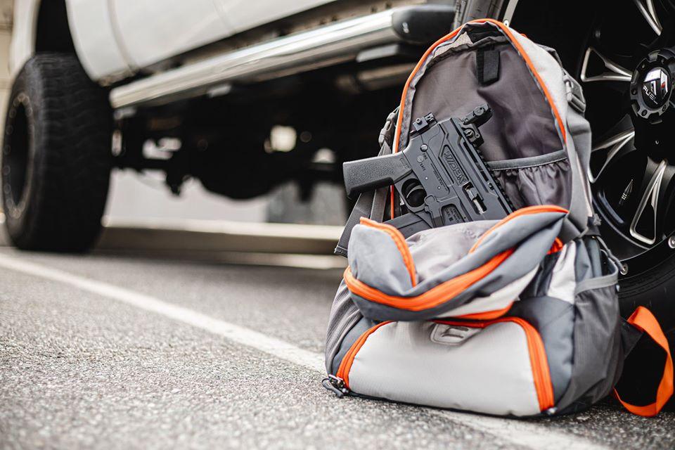 A Diamondback DBX folded into a backpack