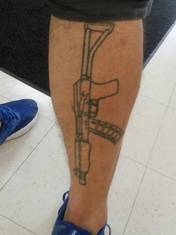 tattoo gun fun love guns pride patriotism