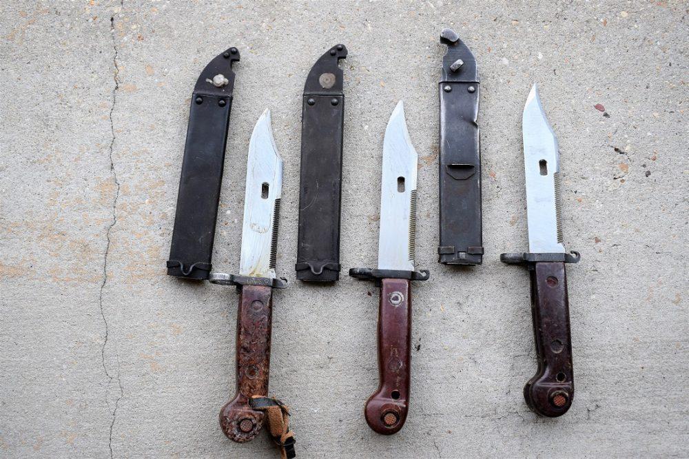 AK bayonets