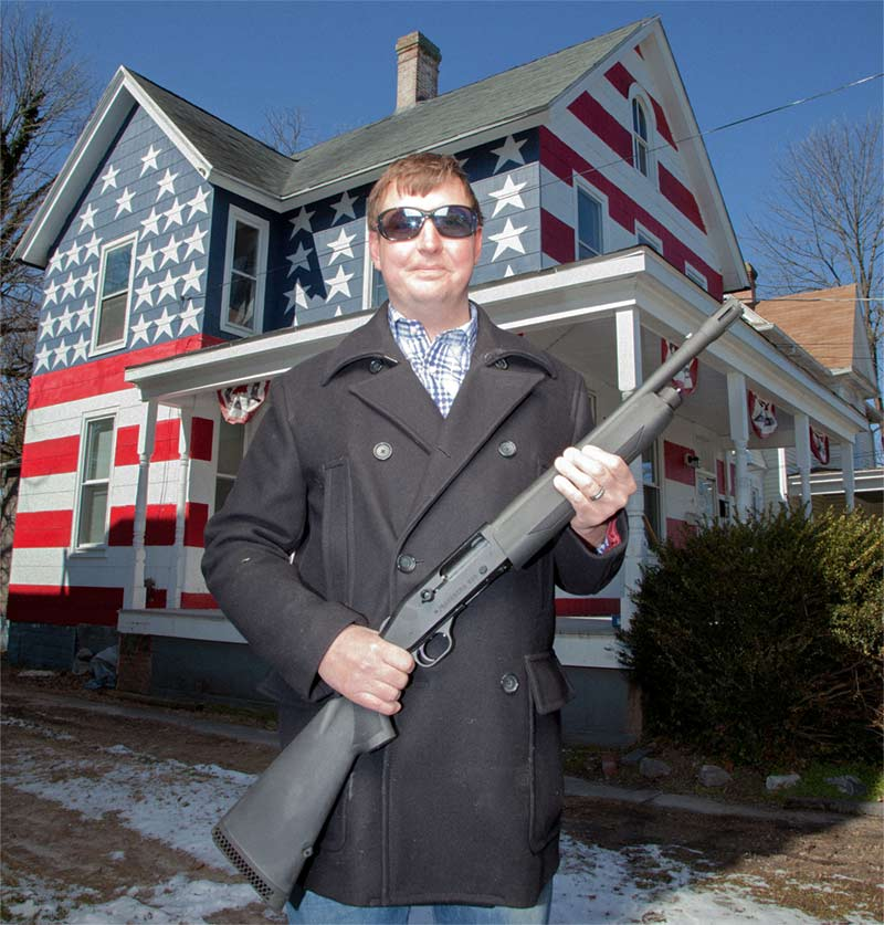 One of America's Most Patriotic Houses mossberg 930 shotgun