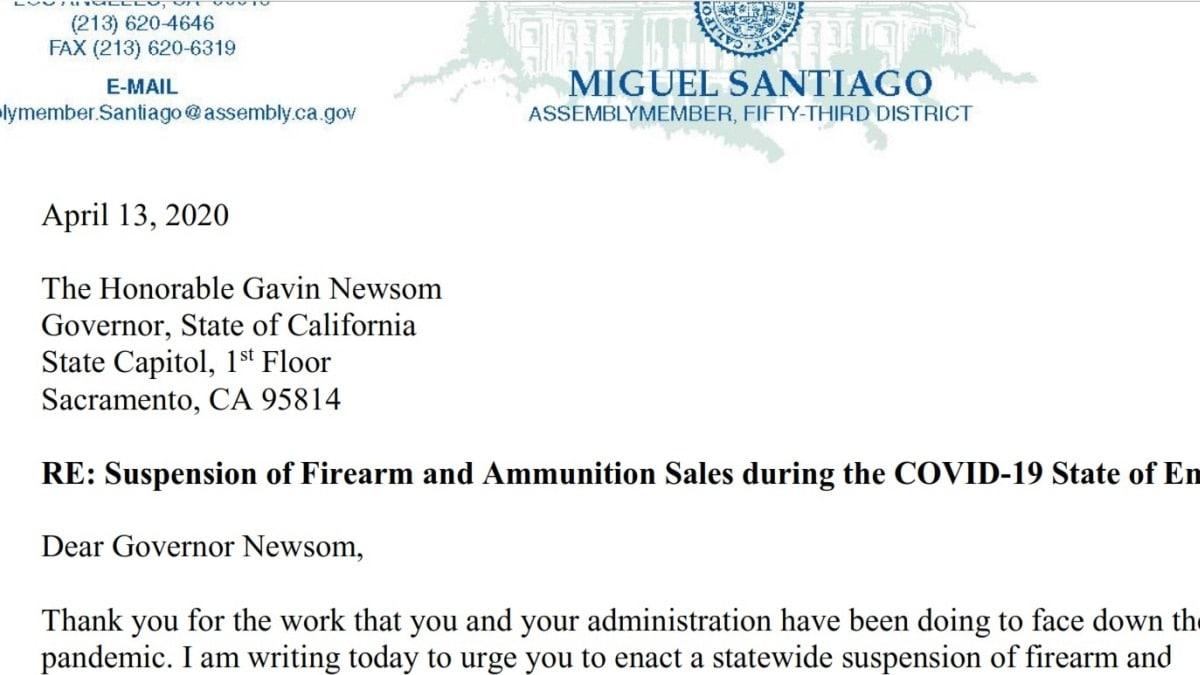 California Lawmaker Moves to Suspend Gun, Ammo Sales Indefinitely