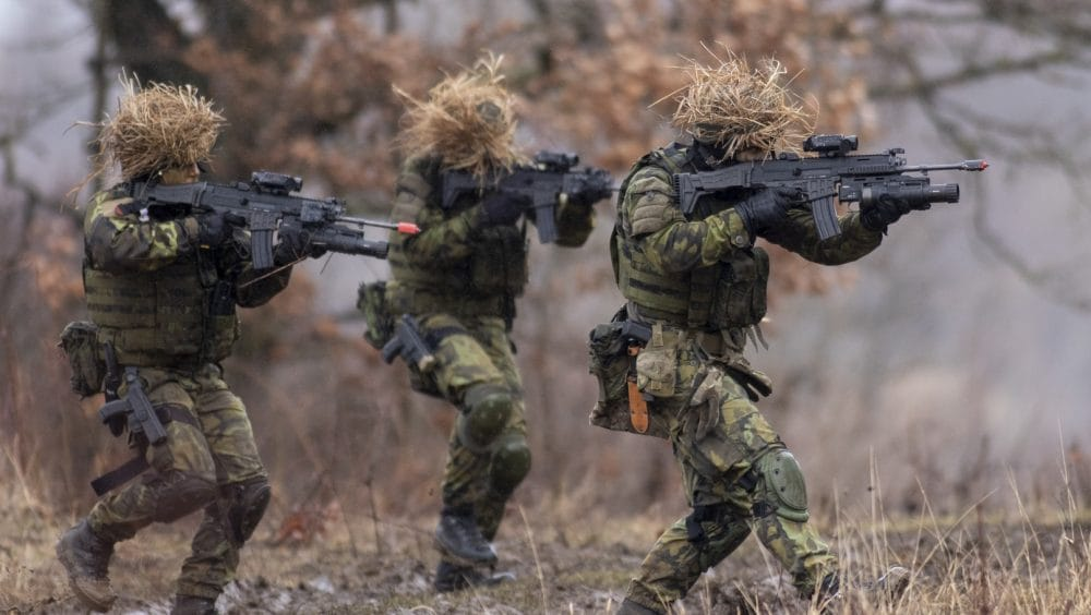 Czech Army troops with CZ BREN P-10 grenade launchers