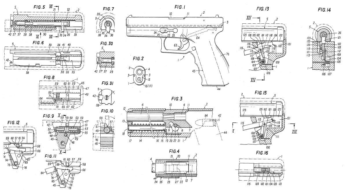 Glock patent drawings