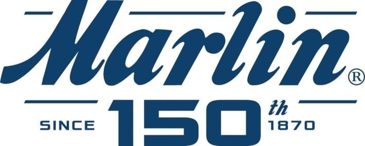 A collage of 150th anniversary Marlin products