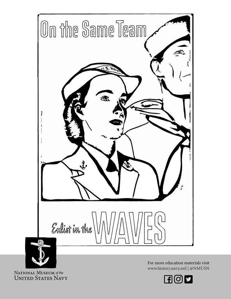 National Museum of the United States Navy coloring sheet