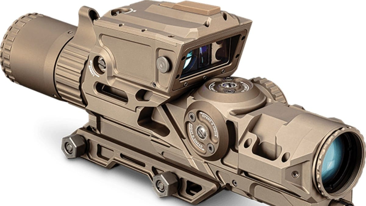 Vortex's entry to the Next Generation Squad Weapon-Fire Control (NGSW-FC) program, the 1-8x Active Reticle, a really cool looking FDE scope
