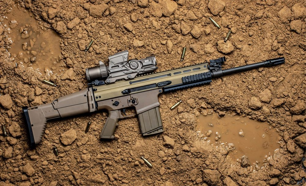 Vortex's 1-8×30 Active Reticle Fire Control shown on an FN SCAR