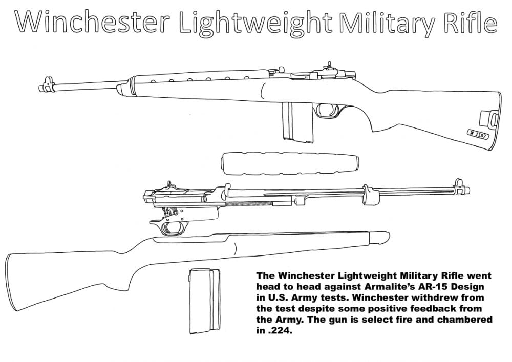 Winchester Lightweight Military Rifle Cody