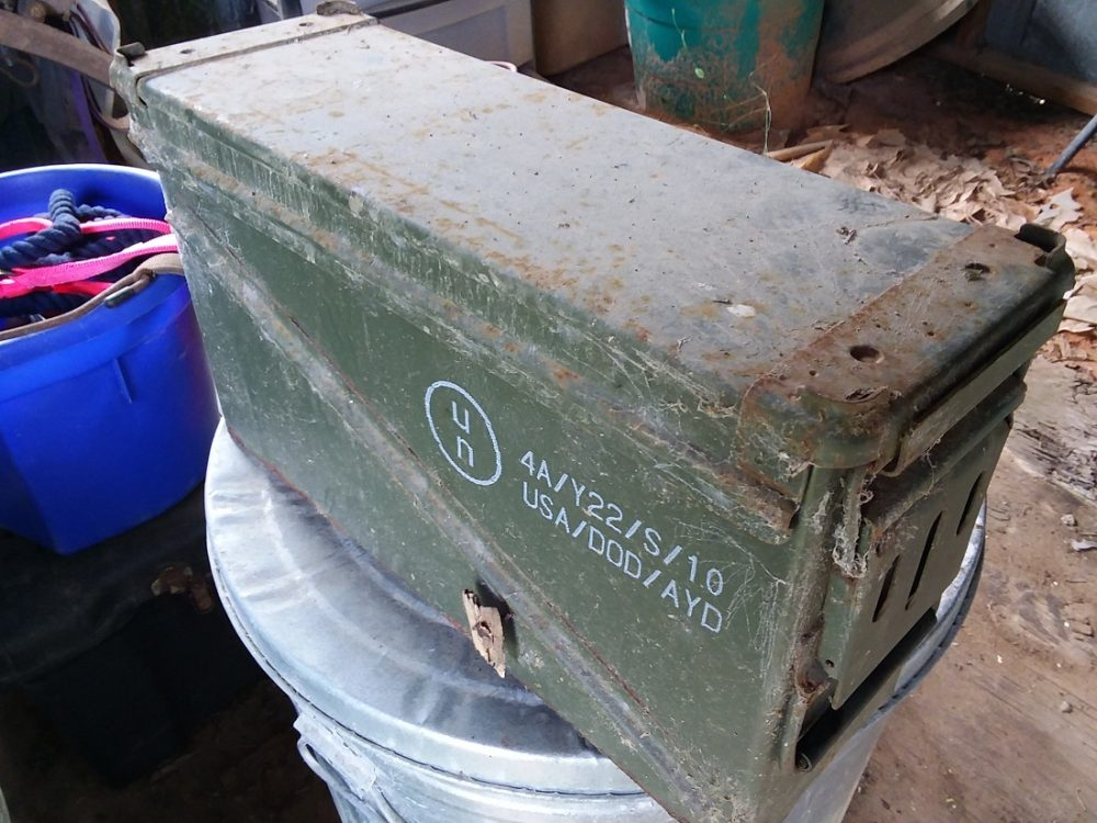 Beat up ammo can