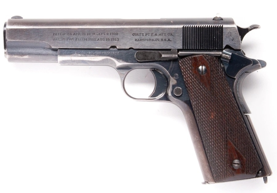 Colt military M1911's serial number is 15639, dating it to 1912,