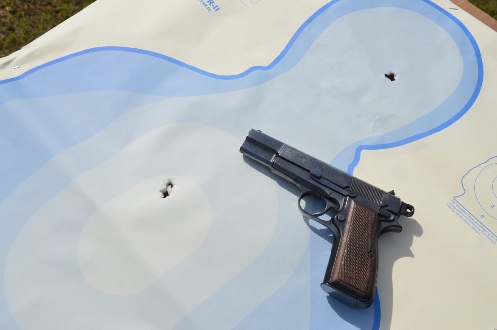 Mozambique drill triple tap 2+1 with a Browning Hi-Power