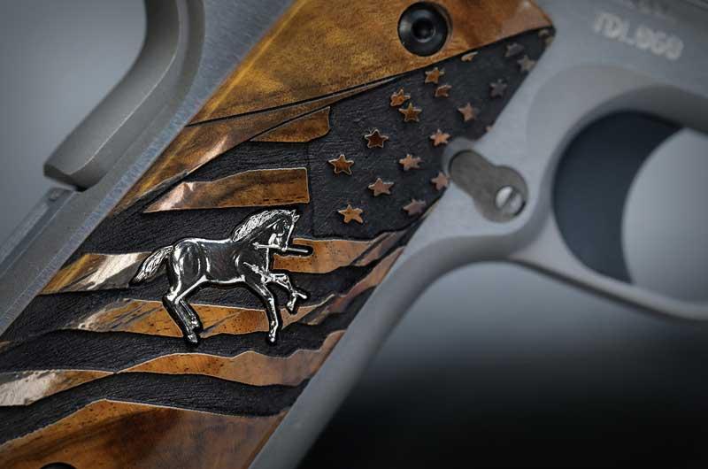 hardwood grips engraving