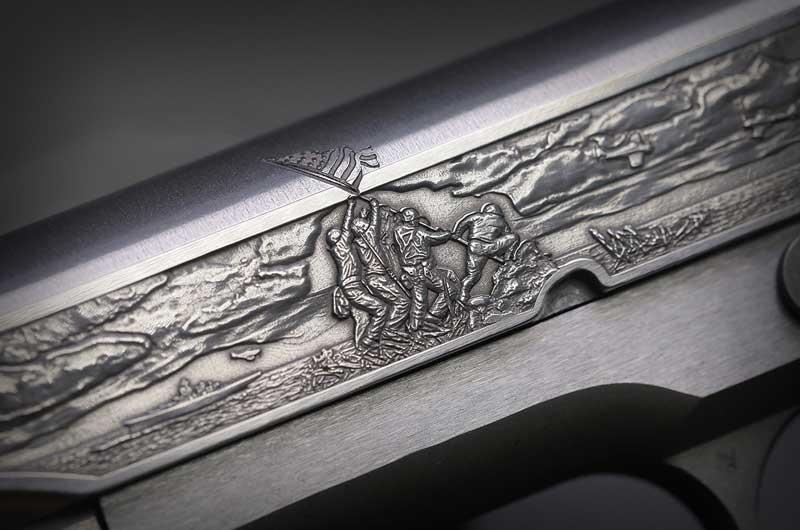 Colt Iwo Jima engraving