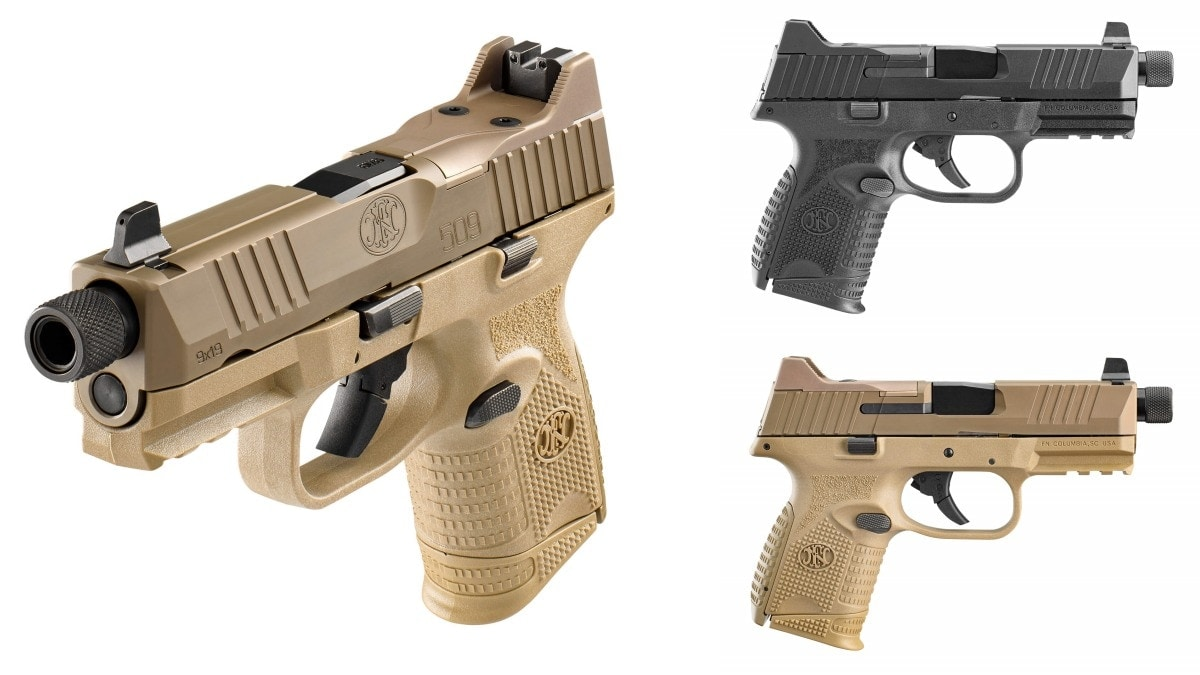 Optics-Ready FN 509 Compact Tactical 9mm in Black and FDE