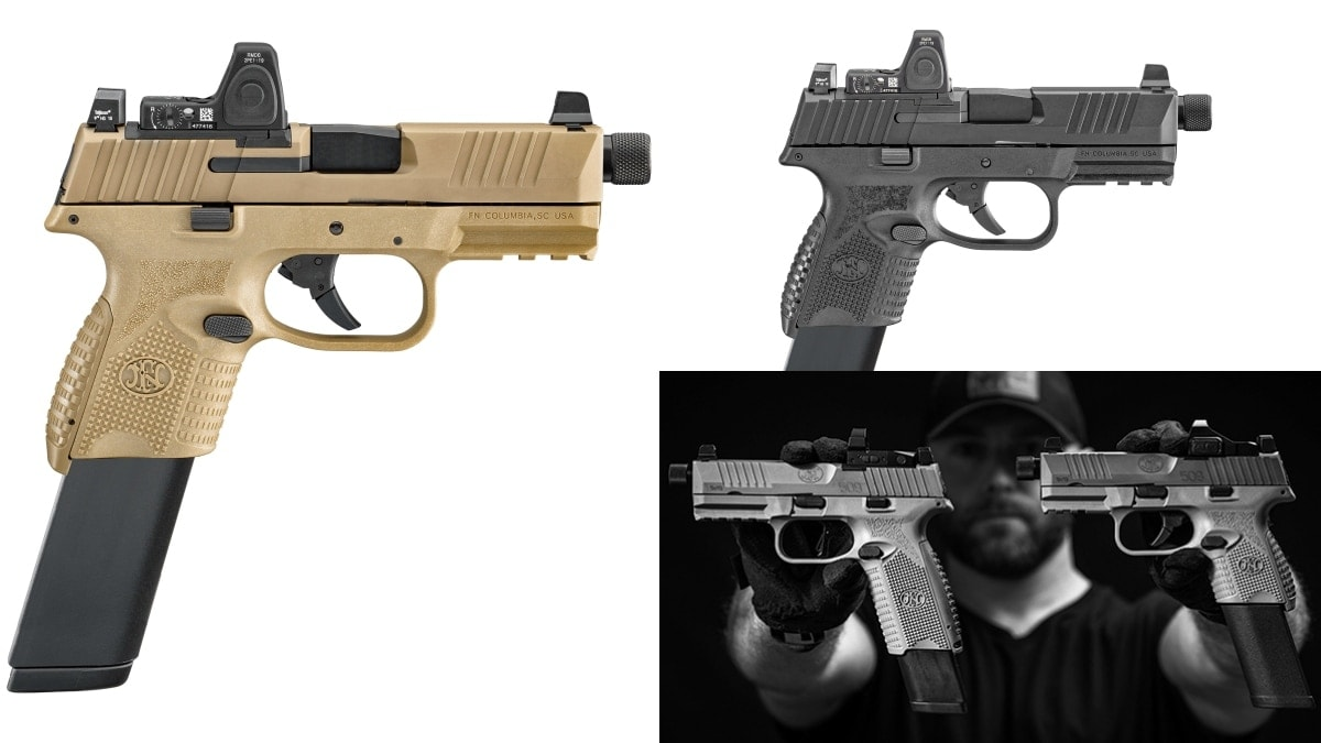 Optics-Ready FN 509 Compact Tactical 9mm in Black and FDE a