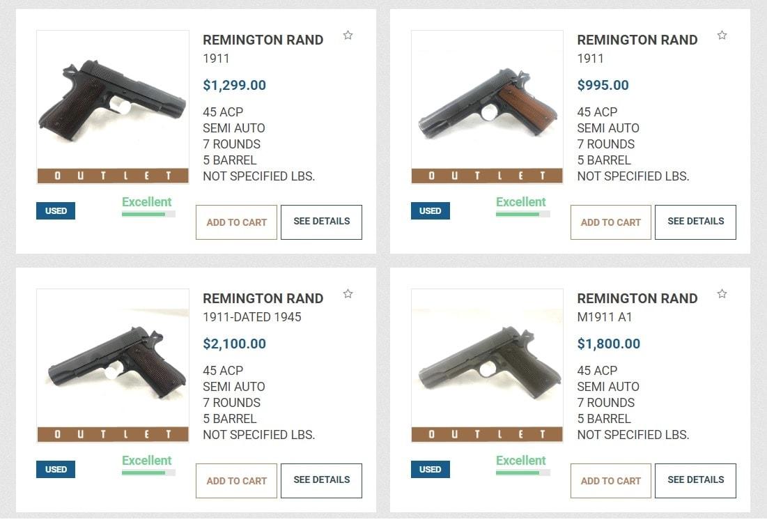 Remington rand M1911s