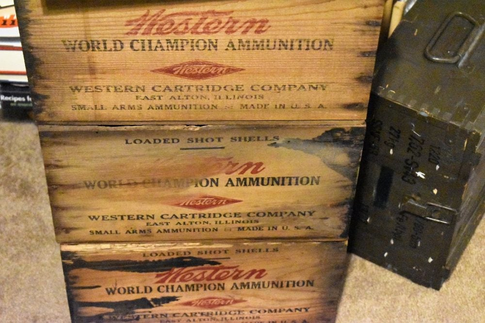 Vintage ammo crates