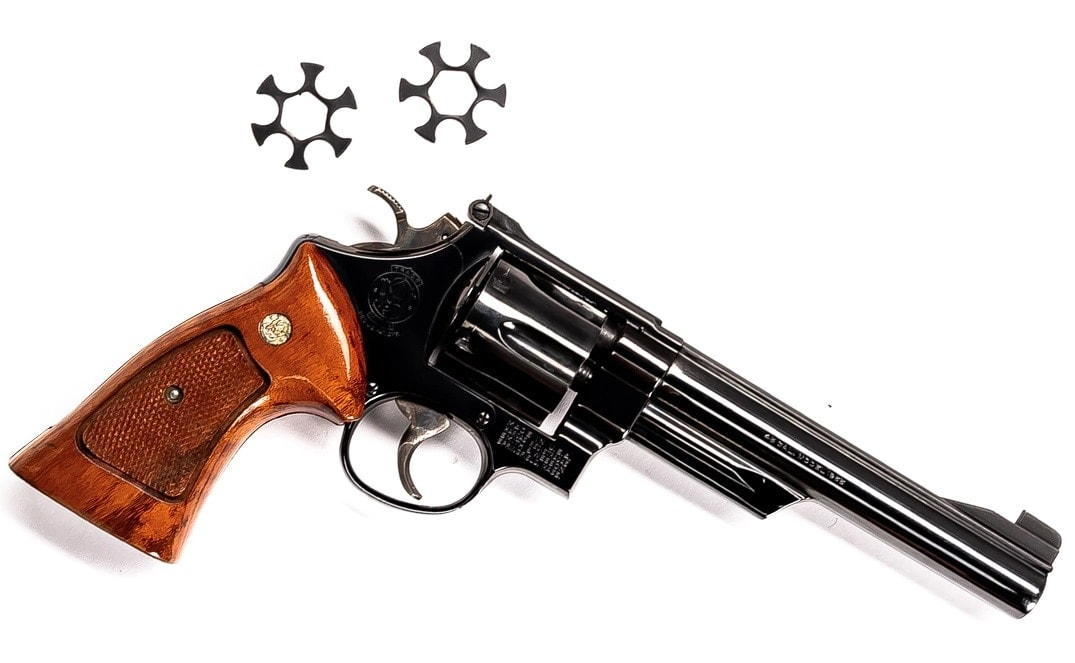 early Smith & Wesson Model 25-2 45ACP 6.5 full moon clips