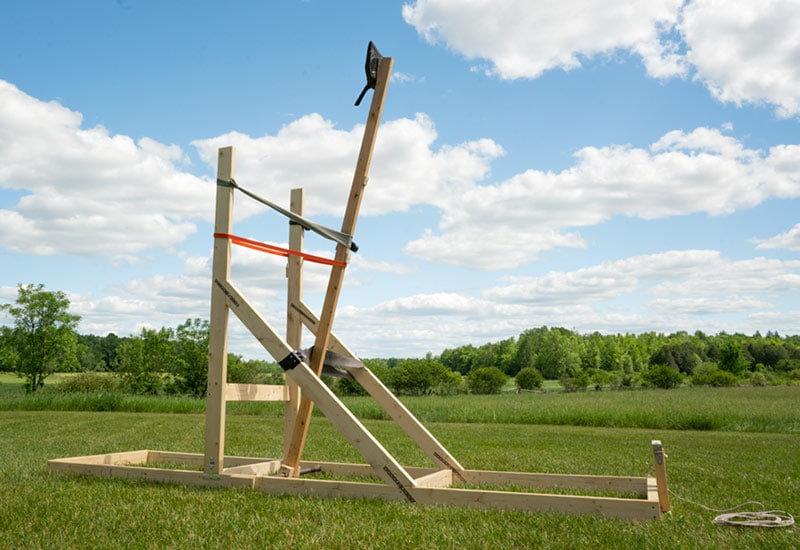 Homemade Catapult to Throw Cans for Shotgun Family Fun