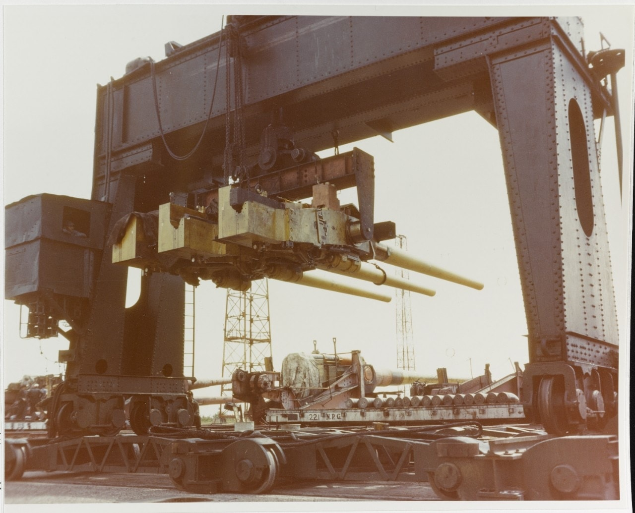6in triple mounted guns, destined for one of the navy's new light cruisers, Dahlgren proving ground 80-G-K-13603