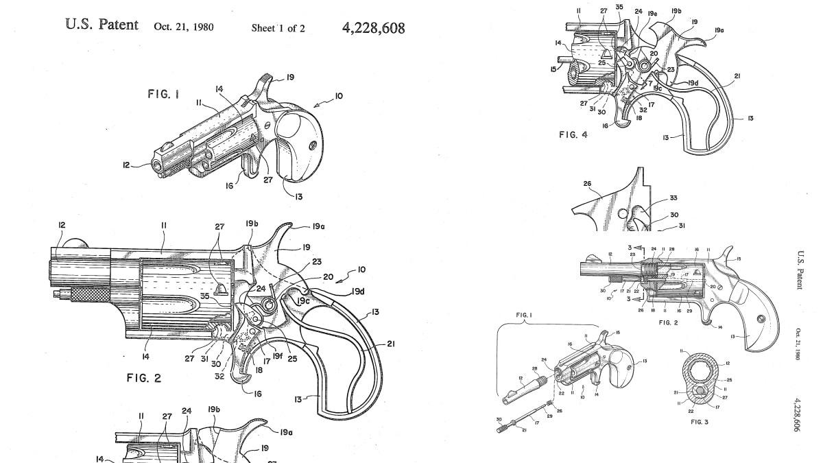 Casull patents mini revolvers