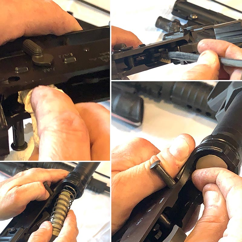AR-15 cleaning