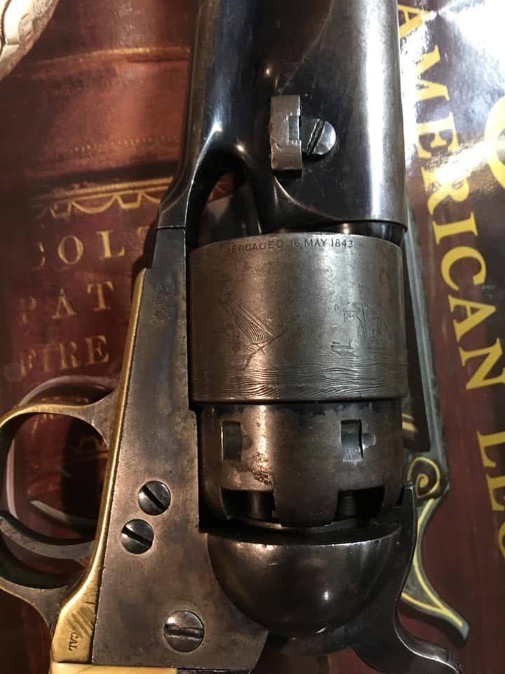 Colt Navy engraving