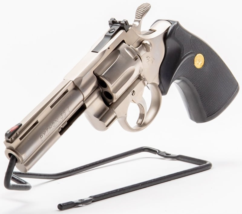 The Colt Python revolver chambered in .357 Magnum/.38 Special.