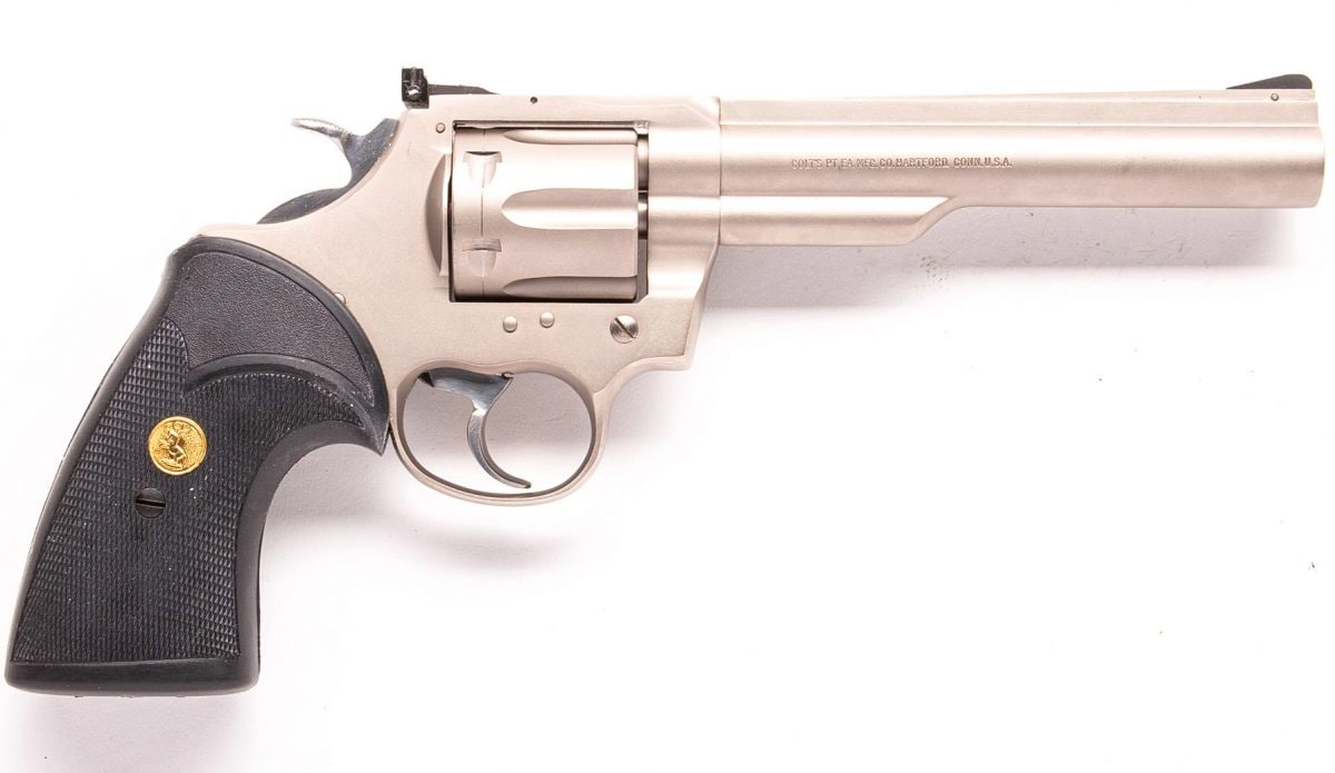 Colt Trooper MK III 6-shot revolver chambered in .22LR Y41819 nickel