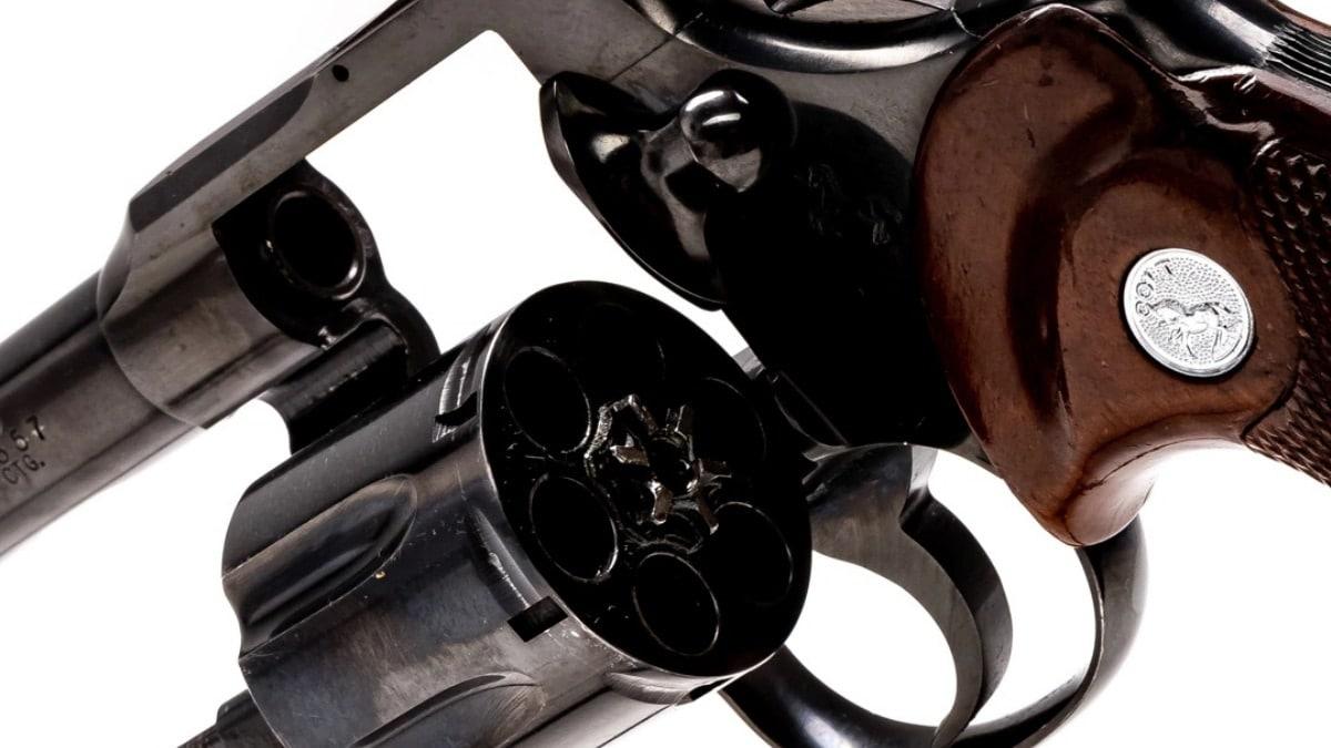 1966 Colt Trooper 6 inch 357 cylinder file