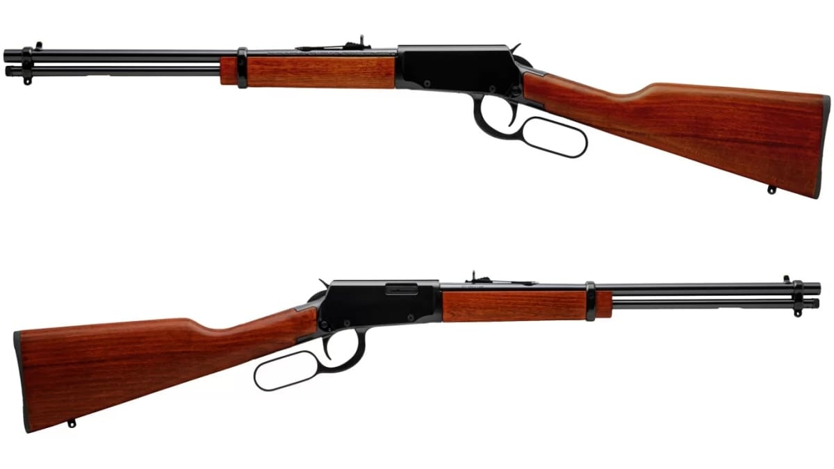 Rossi Rio Bravo rifle, two views in lightbox
