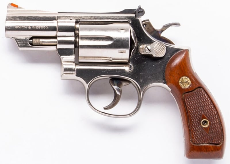 The Smith & Wesson 19-4 revolver chambered in .357 Magnum/.38 Special
