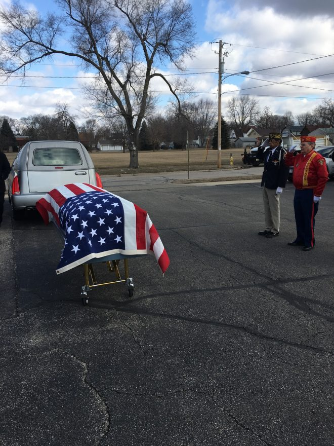 "As noted by our video editor, Scott Gara ""The American flag laid over my grandpa's casket before he was laid to rest. He was a veteran of WWII and ran a merchant store of a cargo ship in the Pacific theater."""