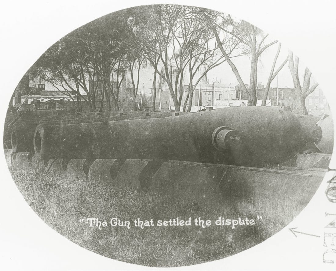 The Gun that settled the dispute XI Dahlgren Kearsarge NH 60958