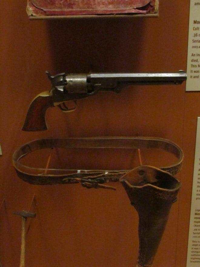jesse james colt navy and belt frazier museuma