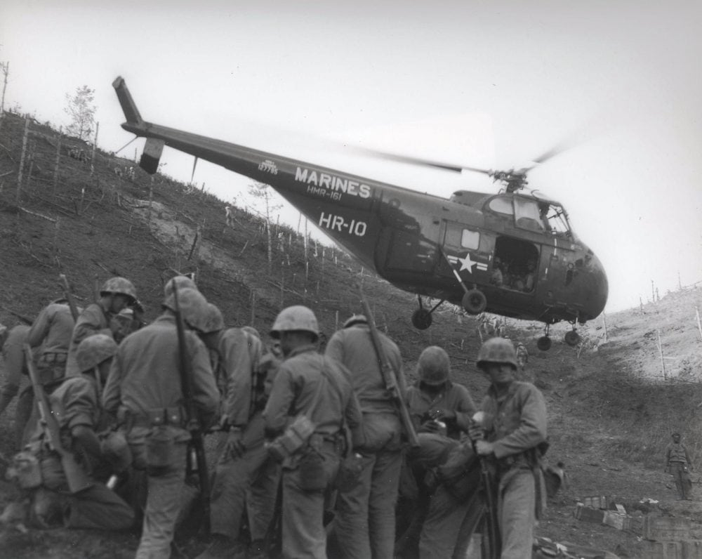 These Marines in Korea are carrying M1 Garands. (Photo: U.S. Marine Corps Archives)