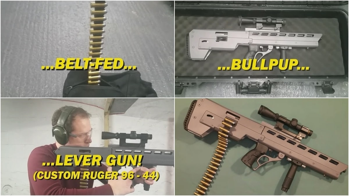How About a Bullpup Belt-Fed Lever-Action .44 Mag Rifle