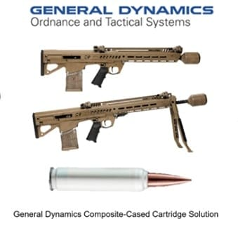General Dynamics-OTS has been working with Maryland-based firearms icon Beretta, to produce their RM277 NGSW platform which uses True Velocity's 6.8mm composite-cased cartridge. The only bullpup design in the program, it uses 20-round polymer mags.