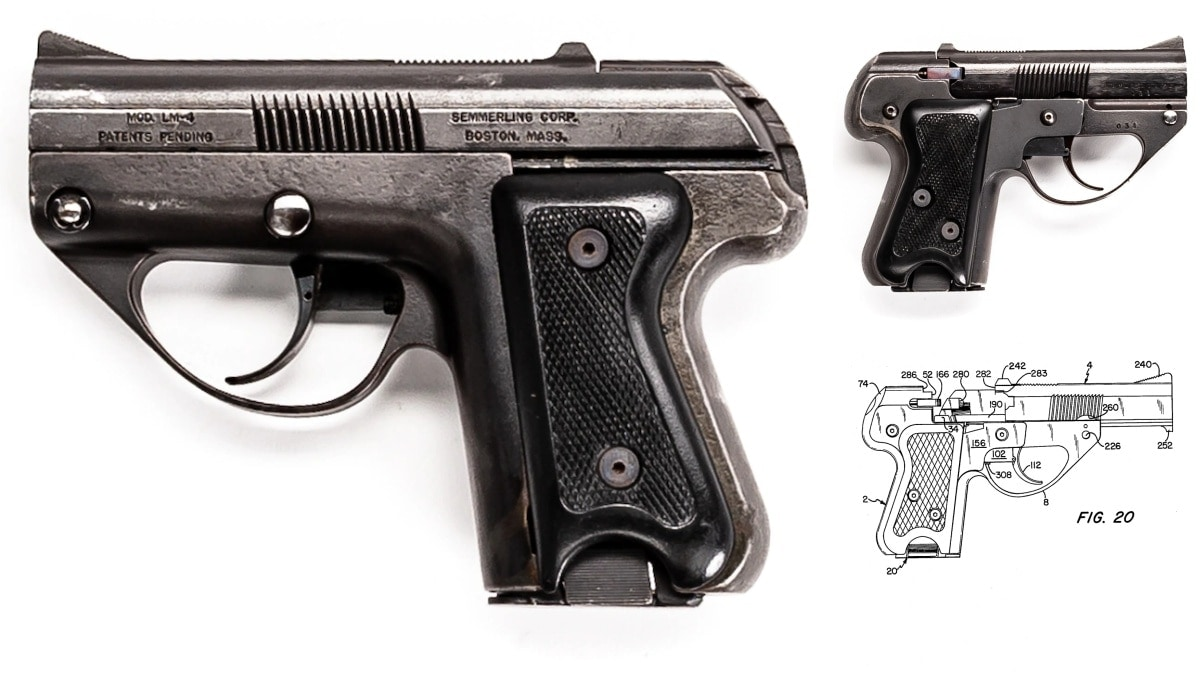 Super Rare Early Semmerling LM-4 .45ACP Pistol Surfaces